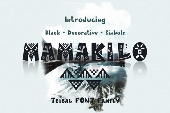Print on Demand: MamaKilo Decorative Font By emanesdsign