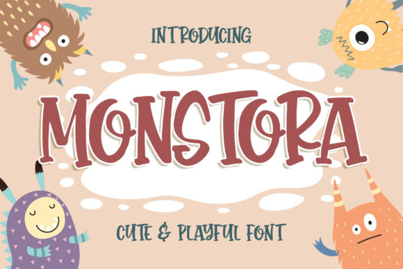 Print on Demand: Monstora Display Font By Blankids Studio