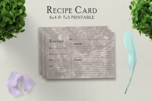 Print on Demand: Muddy Recipe Card Printable V31 Graphic Print Templates By Creative Tacos