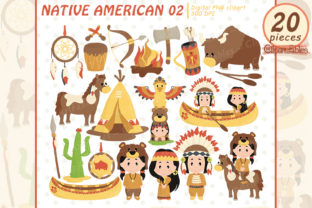 Native American Clipart, Western Clipart Graphic Illustrations By clipartfables