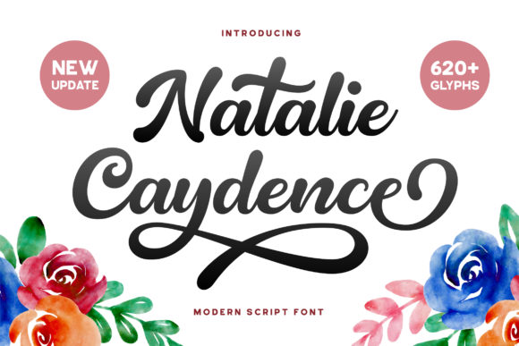 Print on Demand: Natalie Caydence Script & Handwritten Font By Grezline Studio