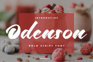 Print on Demand: Odenson Script & Handwritten Font By typotopia