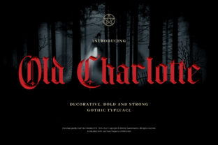 Print on Demand: Old Charlotte Blackletter Font By naulicrea