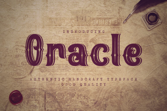Print on Demand: Oracle Display Font By naulicrea