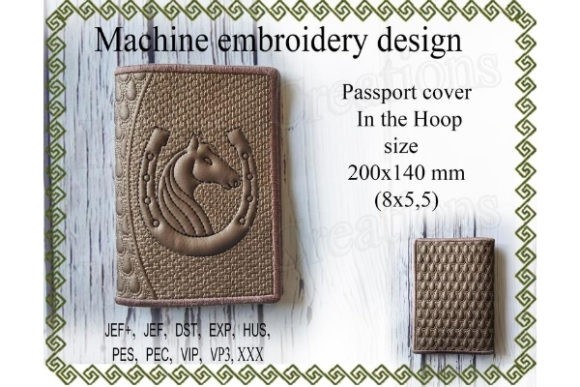 Passport Cover in the Hoop Sewing & Crafts Embroidery Design By ImilovaCreations