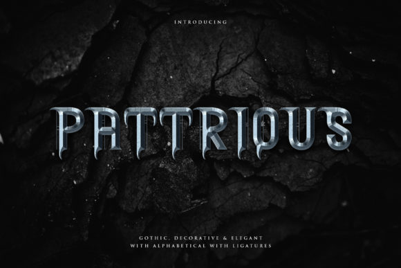 Print on Demand: Pattrious Display Font By naulicrea
