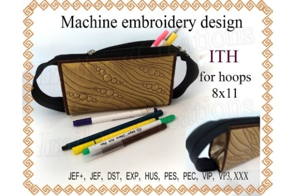 Pencil Purse in the Hoop Sewing & Crafts Embroidery Design By ImilovaCreations