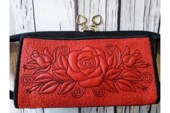 Pencil Purse in the Hoop Embroidery Design