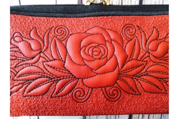 Pencil Purse in the Hoop Embroidery Preview