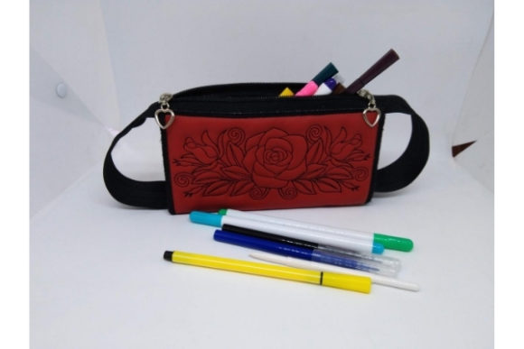Pencil Purse in the Hoop Embroidery Image