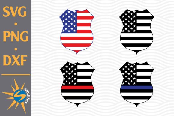 Print on Demand: Police Shield American Flag Graphic Crafts By SVGStoreShop