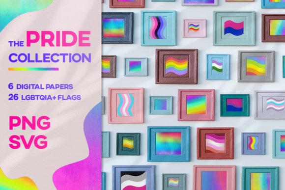 Print on Demand: Pride Design Flyer Collection Month SVG Graphic Textures By Inkclouddesign
