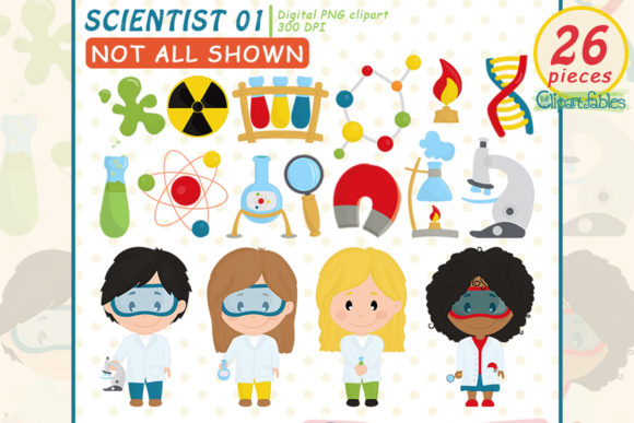 Scientist Kids Clipart, Science Kids Graphic Illustrations By clipartfables