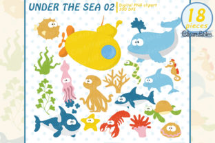 Sea Animals Clip Art, Nautical Clipart Graphic Illustrations By clipartfables