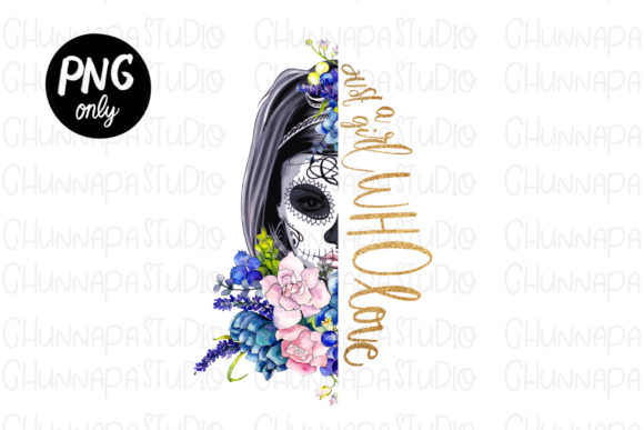 Skull with Flowers Wreath, Dead Day Graphic Print Templates By CSDesign