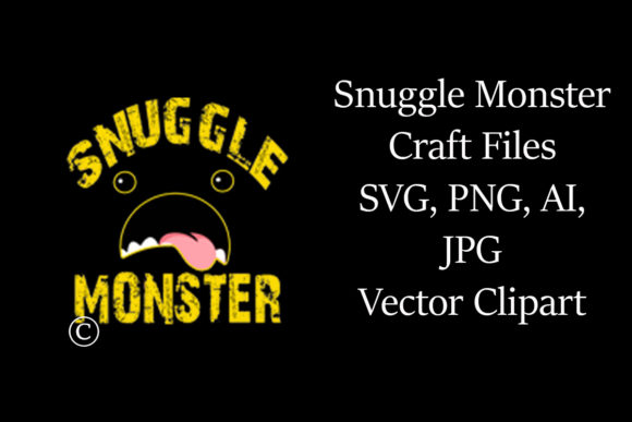 Print on Demand: Snuggle Monster Craft File Vector Graphic 3D SVG By A Design in Time