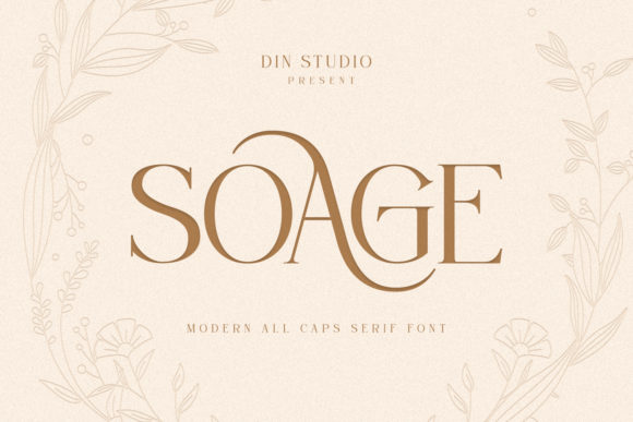 Print on Demand: Soage Serif Font By Din Studio