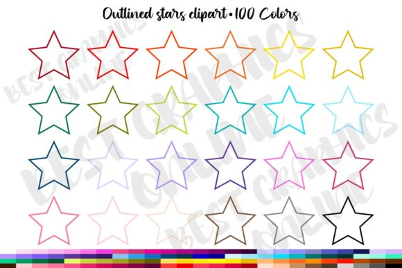 Stars Clipart Set Star Frames Graphics Graphic Illustrations By bestgraphicsonline