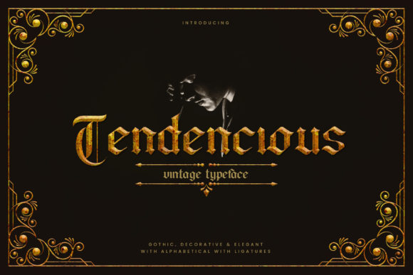 Print on Demand: Tendencious Blackletter Font By naulicrea