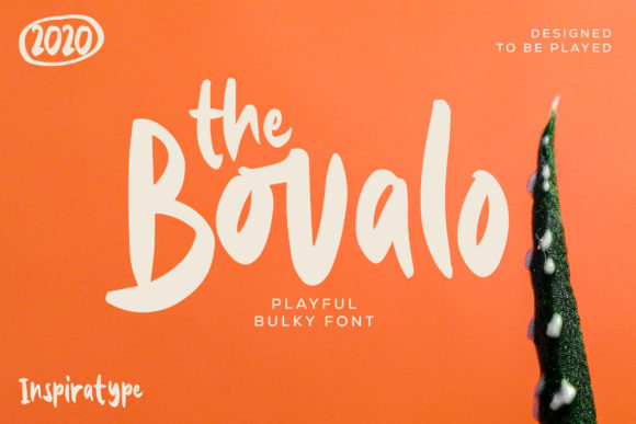 Print on Demand: The Bovalo Display Font By InspiraType