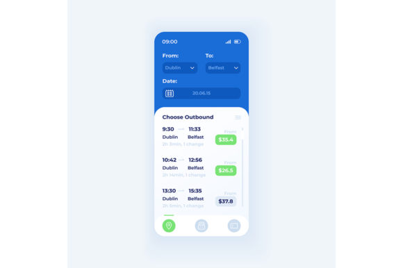 Print on Demand: Tickets Booking Application Interface Graphic UX and UI Kits By bsd studio