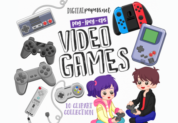 Print on Demand: Videogames Graphic Illustrations By DigitalPapers