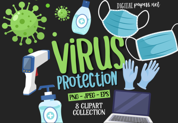 Print on Demand: Virus Protection Graphic Illustrations By DigitalPapers