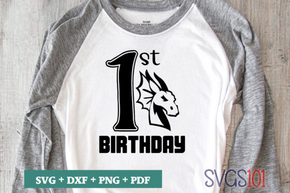 1st Birthday Dragon Graphic Crafts By svgs101