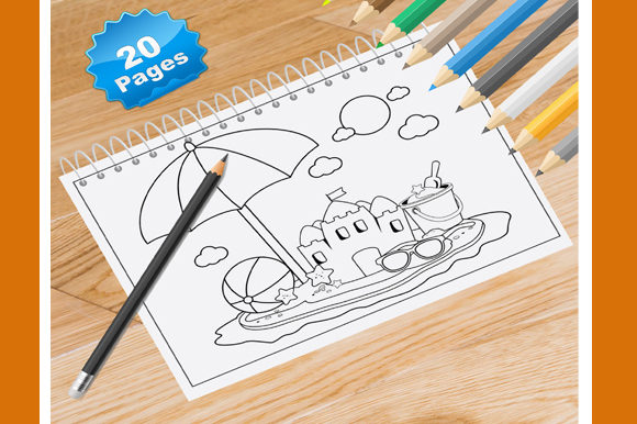 20 Beach View Coloring Pages for Kids Graphic Coloring Pages & Books Kids By Coloring World