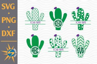 Print on Demand: Cactus Monogram Graphic Crafts By SVGStoreShop