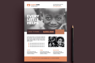 Charity Flyer Layout Graphic Print Templates By bourjart_20