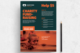 Charity Fundraising Flyer Layout Graphic Print Templates By bourjart_20