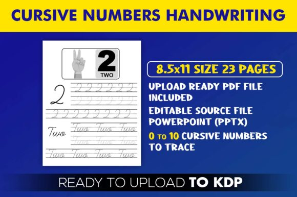 Print on Demand: Cursive Numbers Handwriting Workbook KDP Graphic KDP Interiors By Beast Designer - Image 2