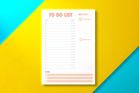 Daily to Do List Paper Graphic KDP Interiors By Nickkey Nick
