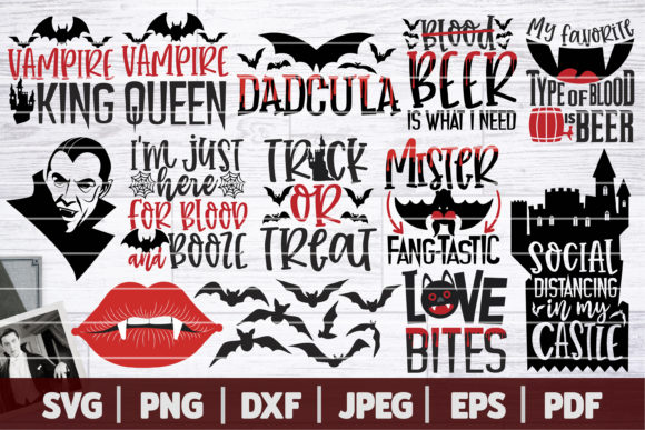 Dracula Vampire Halloween Bundle  Graphic Crafts By SeventhHeaven Studios
