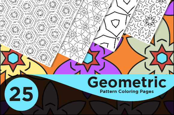 Print on Demand: Geometric Kdp Interiors Pattern Pages Graphic Coloring Pages & Books Adults By Riduwan Molla