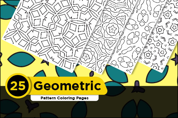 Print on Demand: Geometric Pattern Coloring Pages Book Graphic Coloring Pages & Books Adults By Riduwan Molla