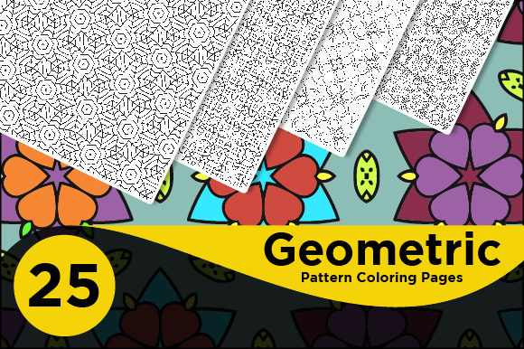 Print on Demand: Geometric Pattern Coloring Pages Graphic Coloring Pages & Books Adults By Riduwan Molla