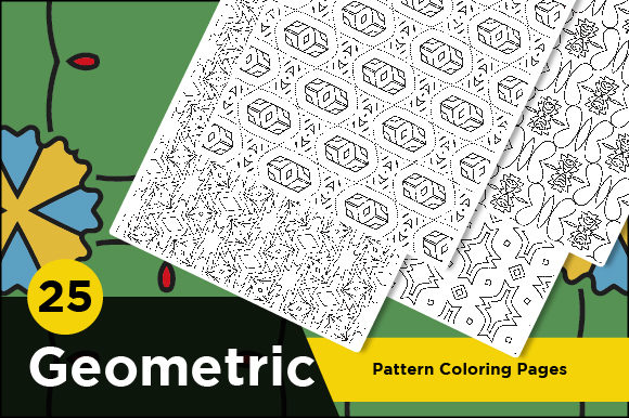 Print on Demand: Geometric Set of Coloring Pattern Pages Graphic Coloring Pages & Books Adults By Riduwan Molla