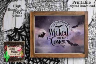 Print on Demand: Halloween Printable Wall Art Graphic Crafts By Crazy Heifer Design Shoppe