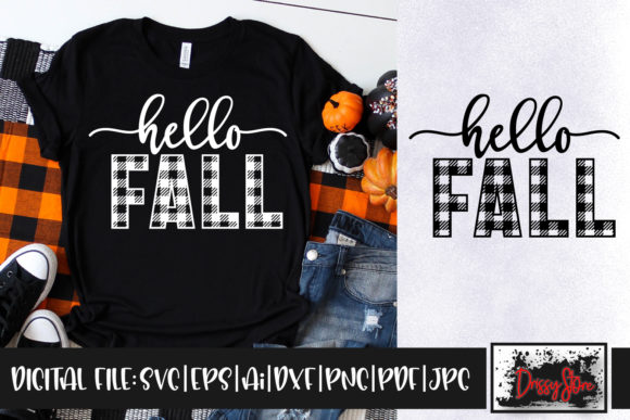 Hello Fall Graphic Crafts By DrissyStore