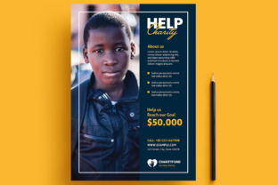 Help Charity Flyer Layout Graphic Print Templates By bourjart_20