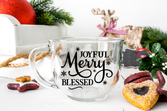 Joyful Merry Blessed Christmas Graphic Crafts By Simply Cut Co