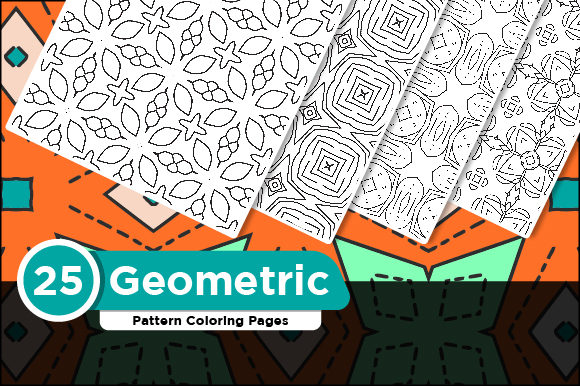 Print on Demand: KDP Geometric Pattern Coloring Pages Graphic Coloring Pages & Books Adults By Riduwan Molla