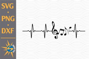 Print on Demand: Music Note Heartbeat Graphic Crafts By SVGStoreShop
