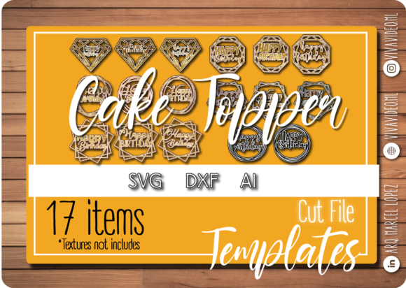 Print on Demand: Pack Toppers Graphic Print Templates By Marcel de Cisneros