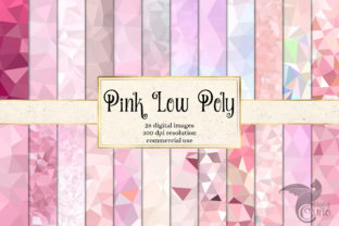 Print on Demand: Pink Low Poly Digital Paper Graphic Textures By Digital Curio