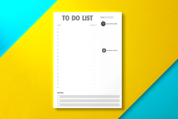 To Do List Sheet Black Graphic KDP Interiors By Nickkey Nick