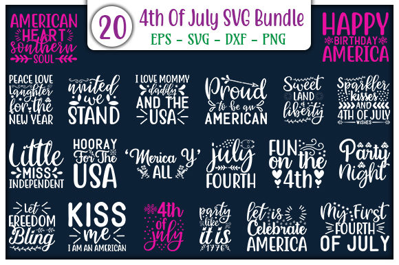 4th of July Design Bundle Graphic