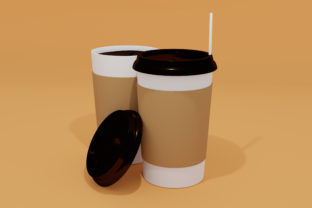 Print on Demand: Coffee Cup with Editable Color Mockup Graphic Product Mockups By Helotype